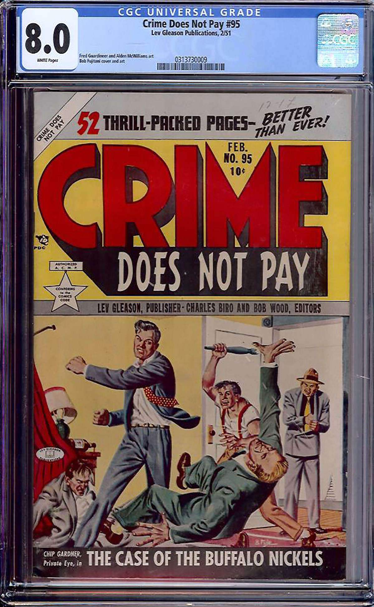 Crime Does Not Pay #95 CGC 8.0 w