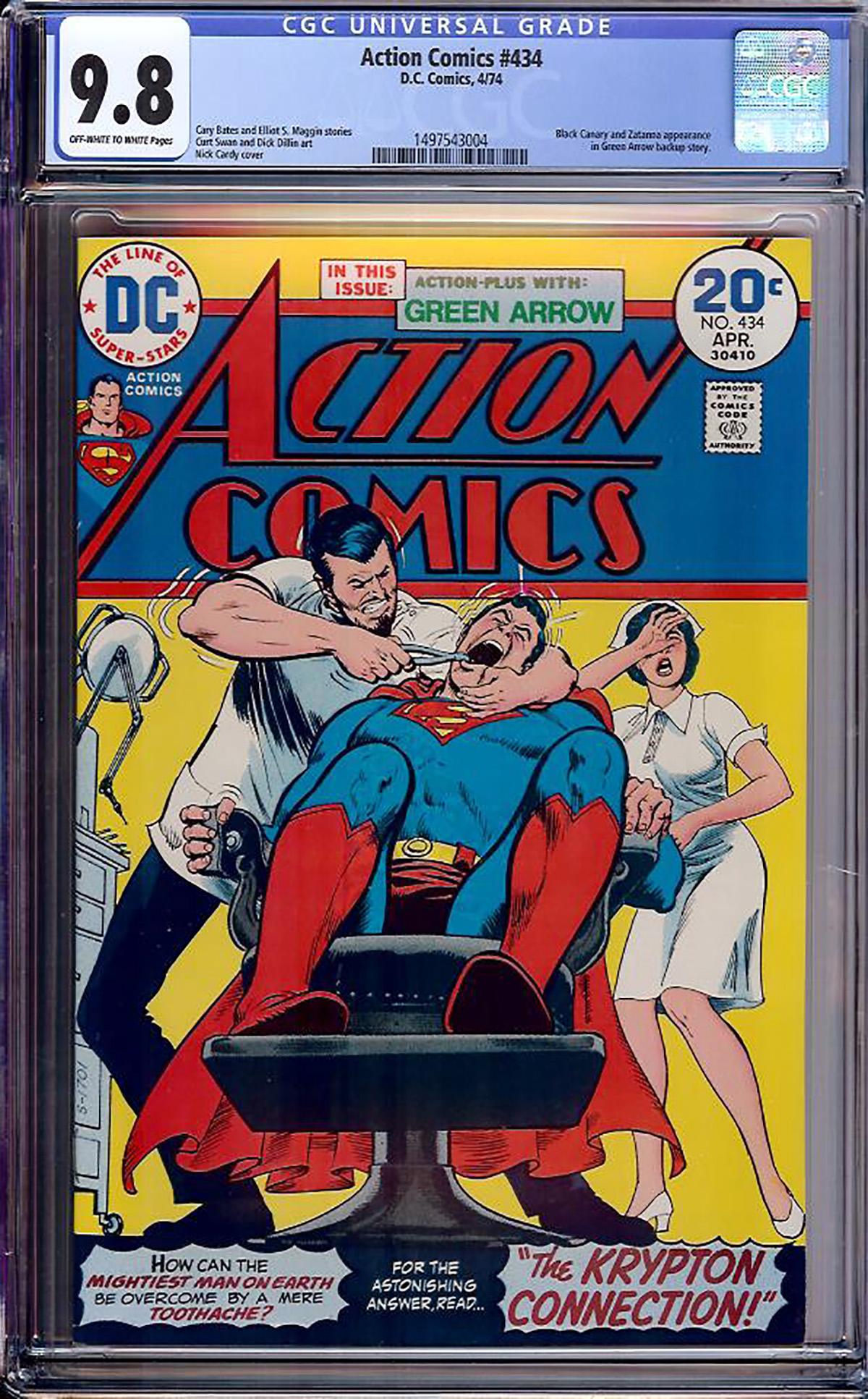 Action Comics #434 CGC 9.8 ow/w