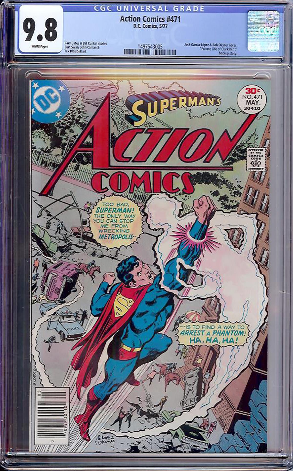 Action Comics #471 CGC 9.8 w
