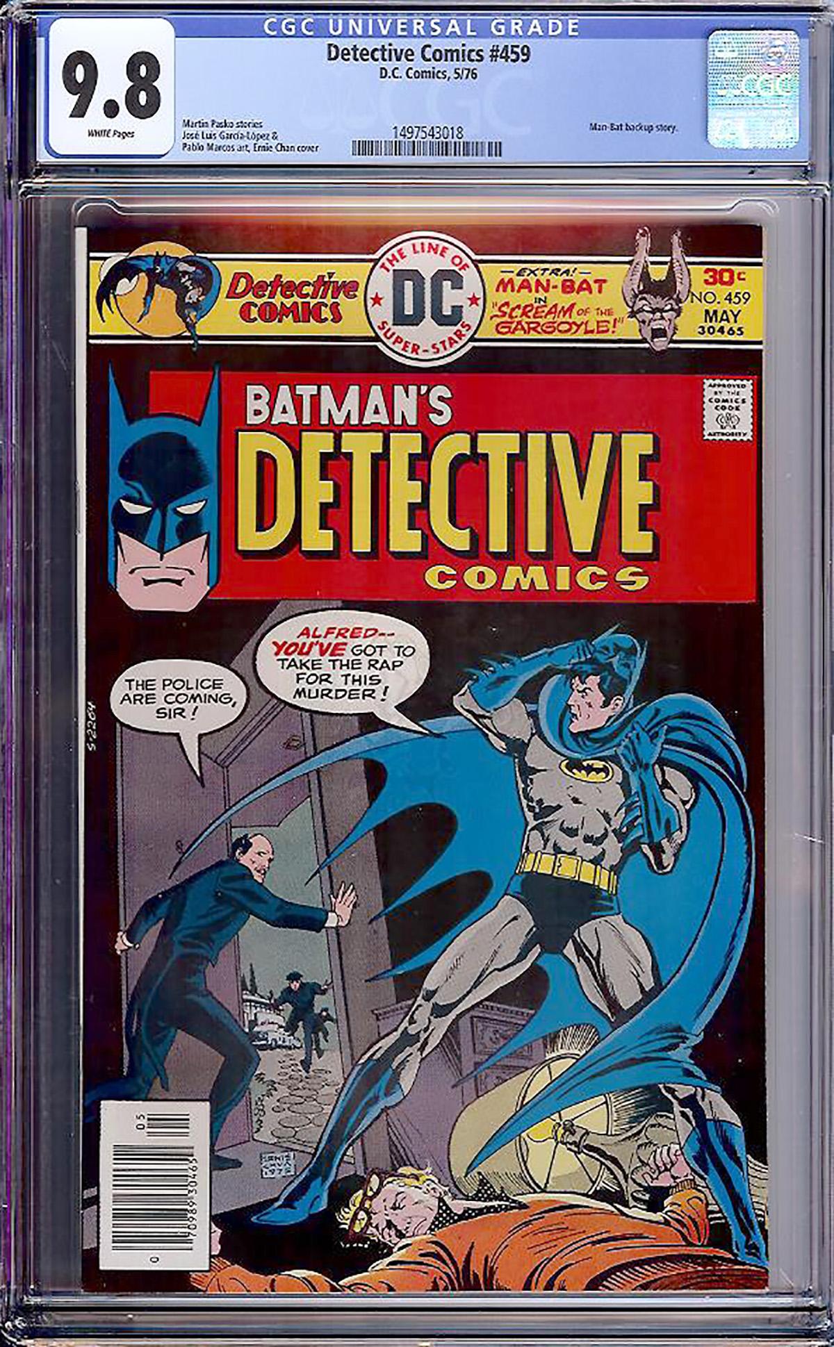 Detective Comics #459 CGC 9.8 w