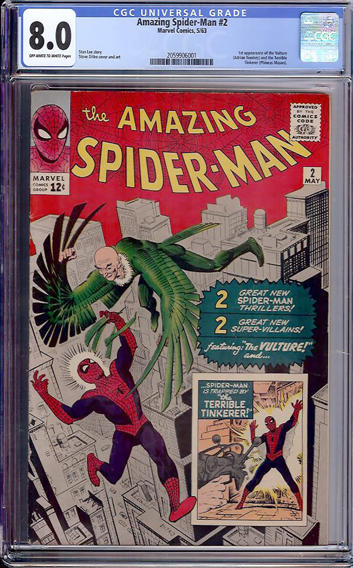 Amazing Spider-Man #2 CGC 8.0 ow/w