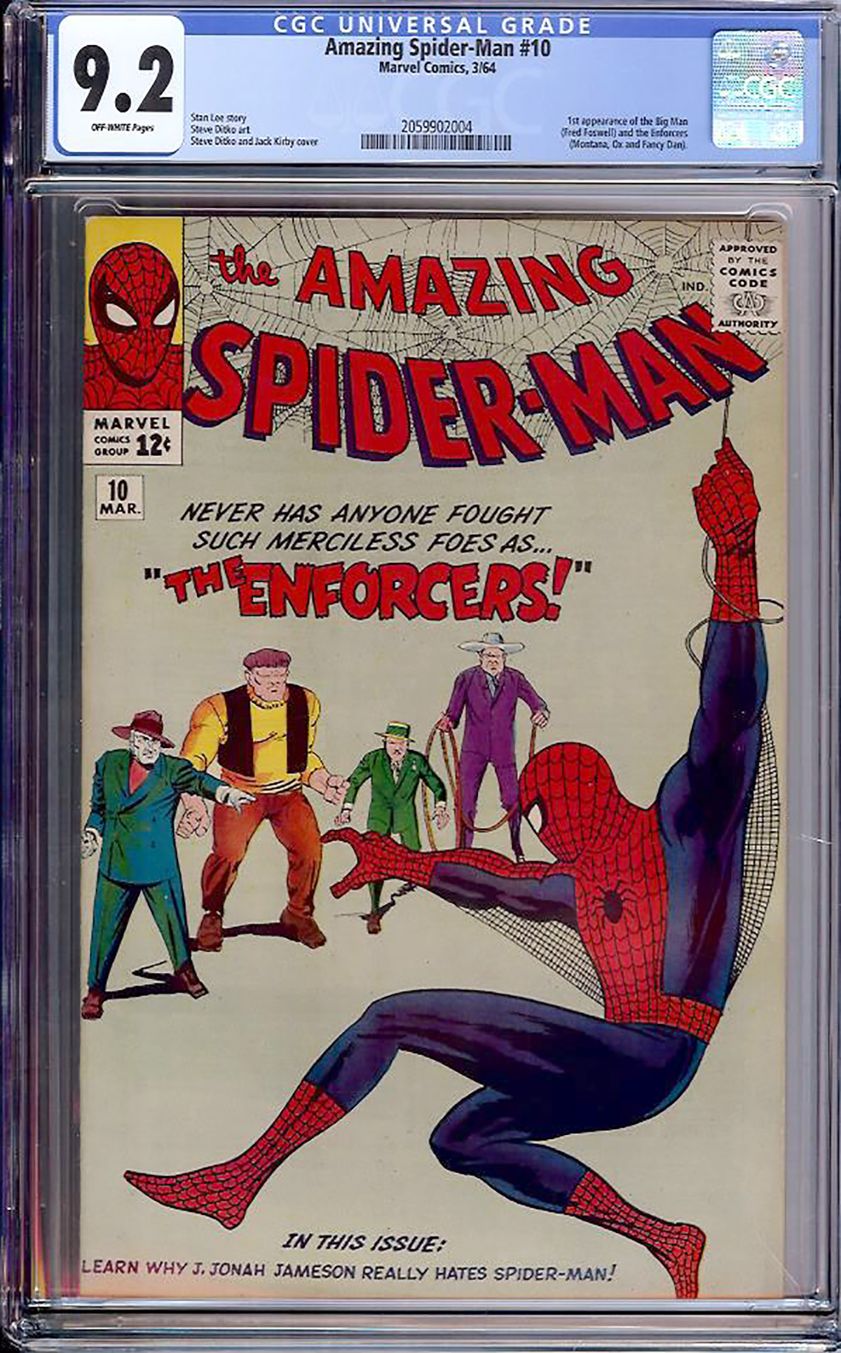 Amazing Spider-Man #10 CGC 9.2 ow
