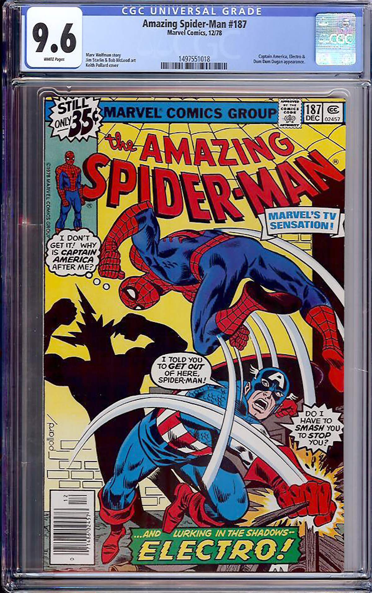 Amazing Spider-Man #187 CGC 9.6 w