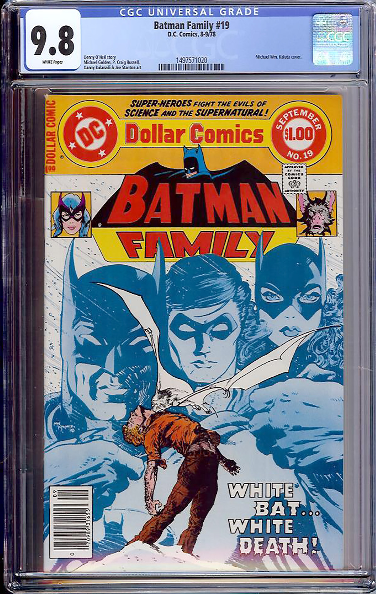 Batman Family #19 CGC 9.8 w