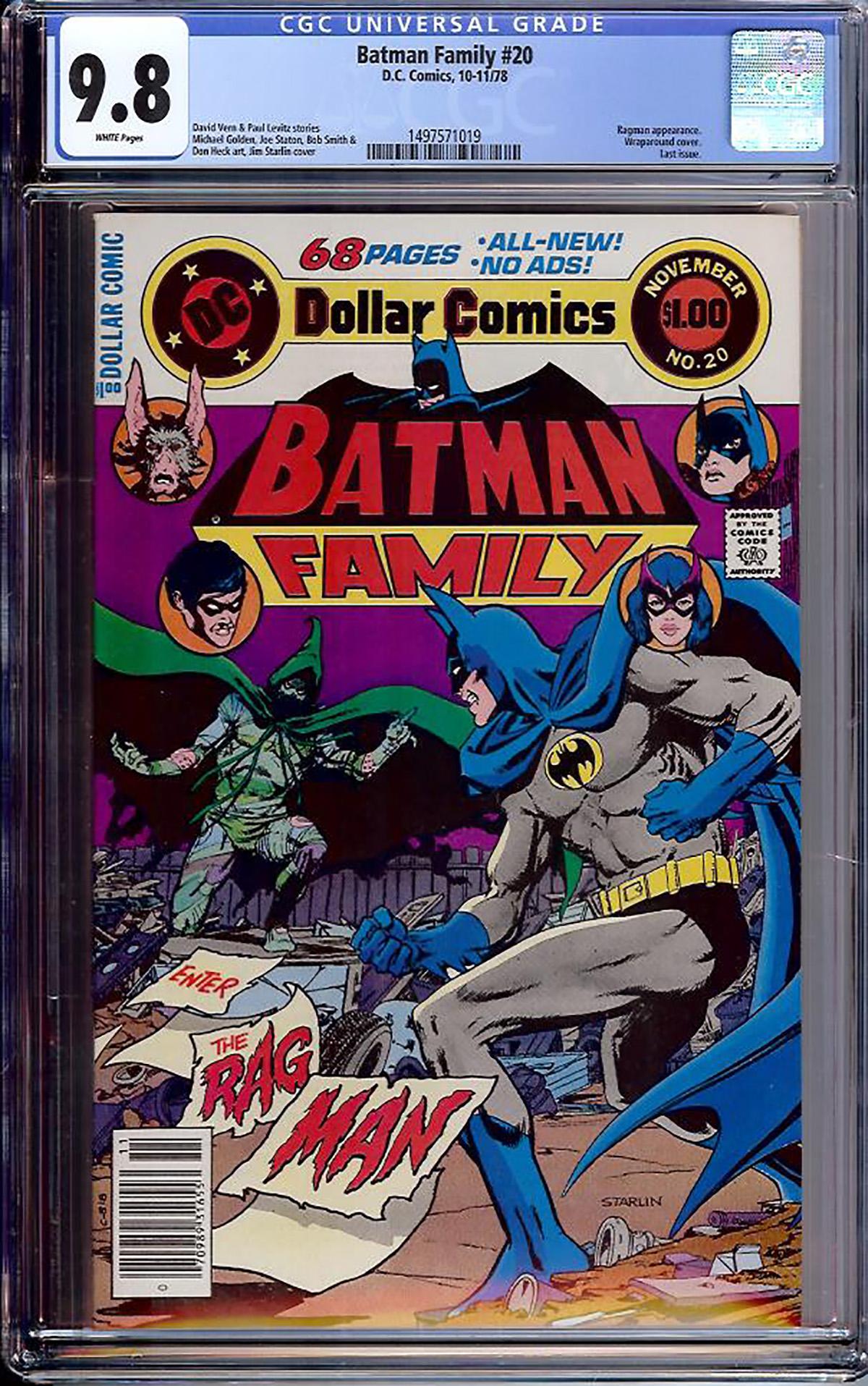 Batman Family #20 CGC 9.8 w