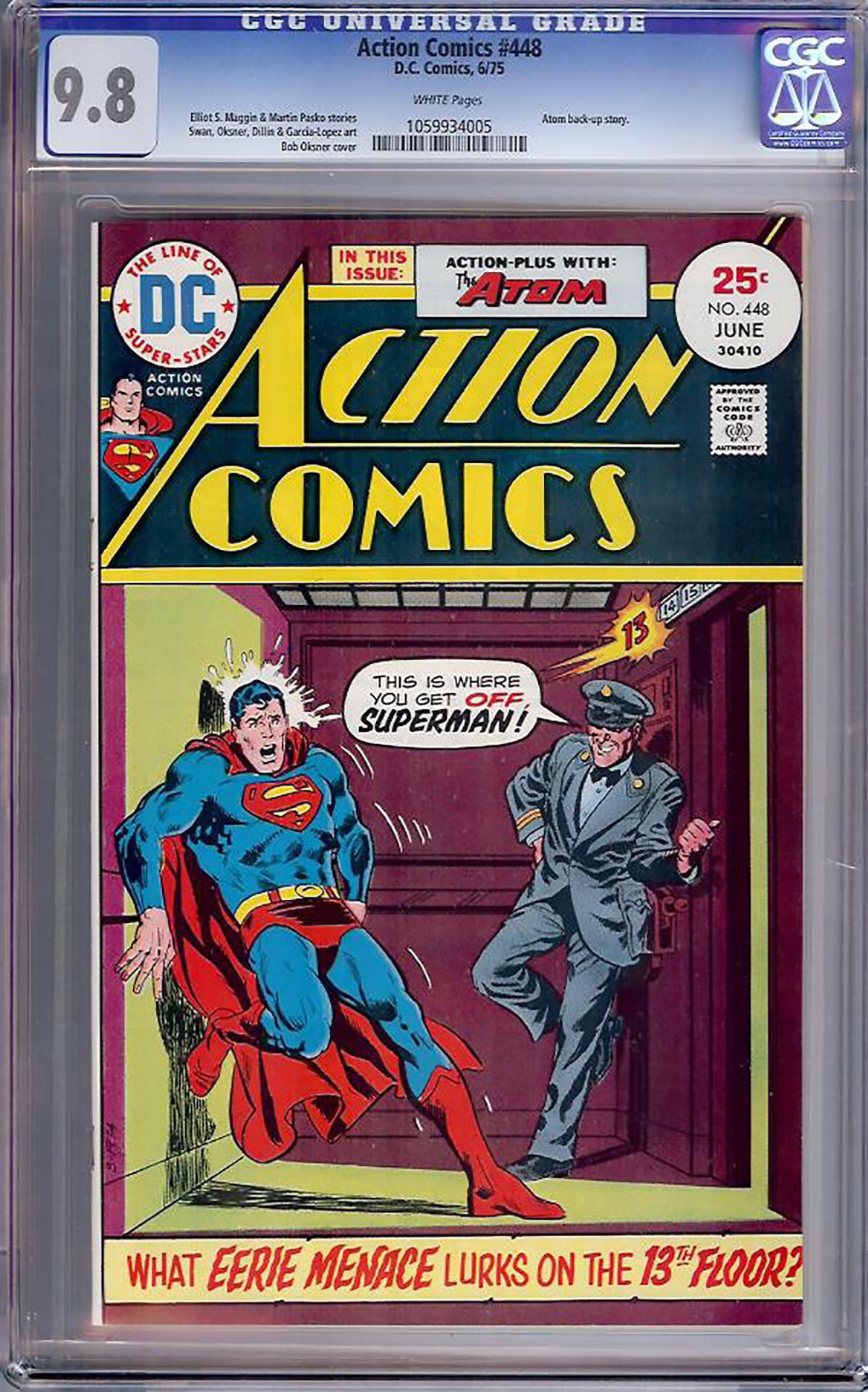 Action Comics #448 CGC 9.8 w