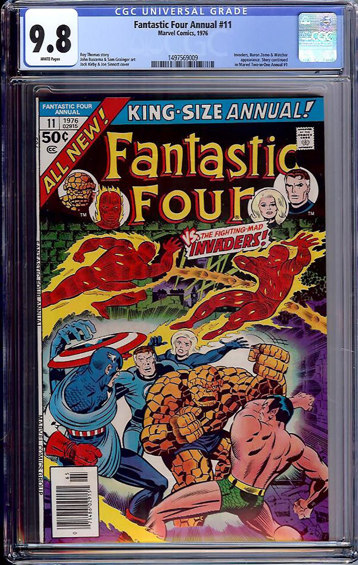 Fantastic Four Annual #11 CGC 9.8 w