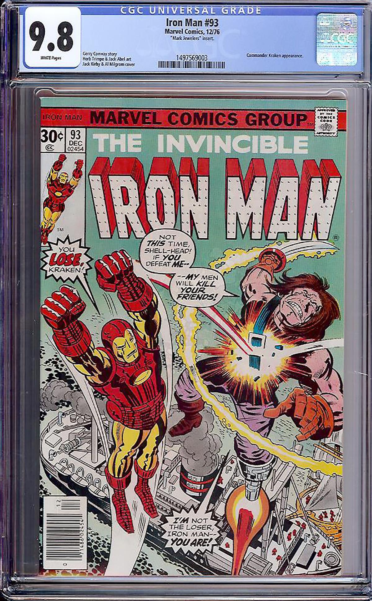 Iron Man #93 CGC 9.8 w