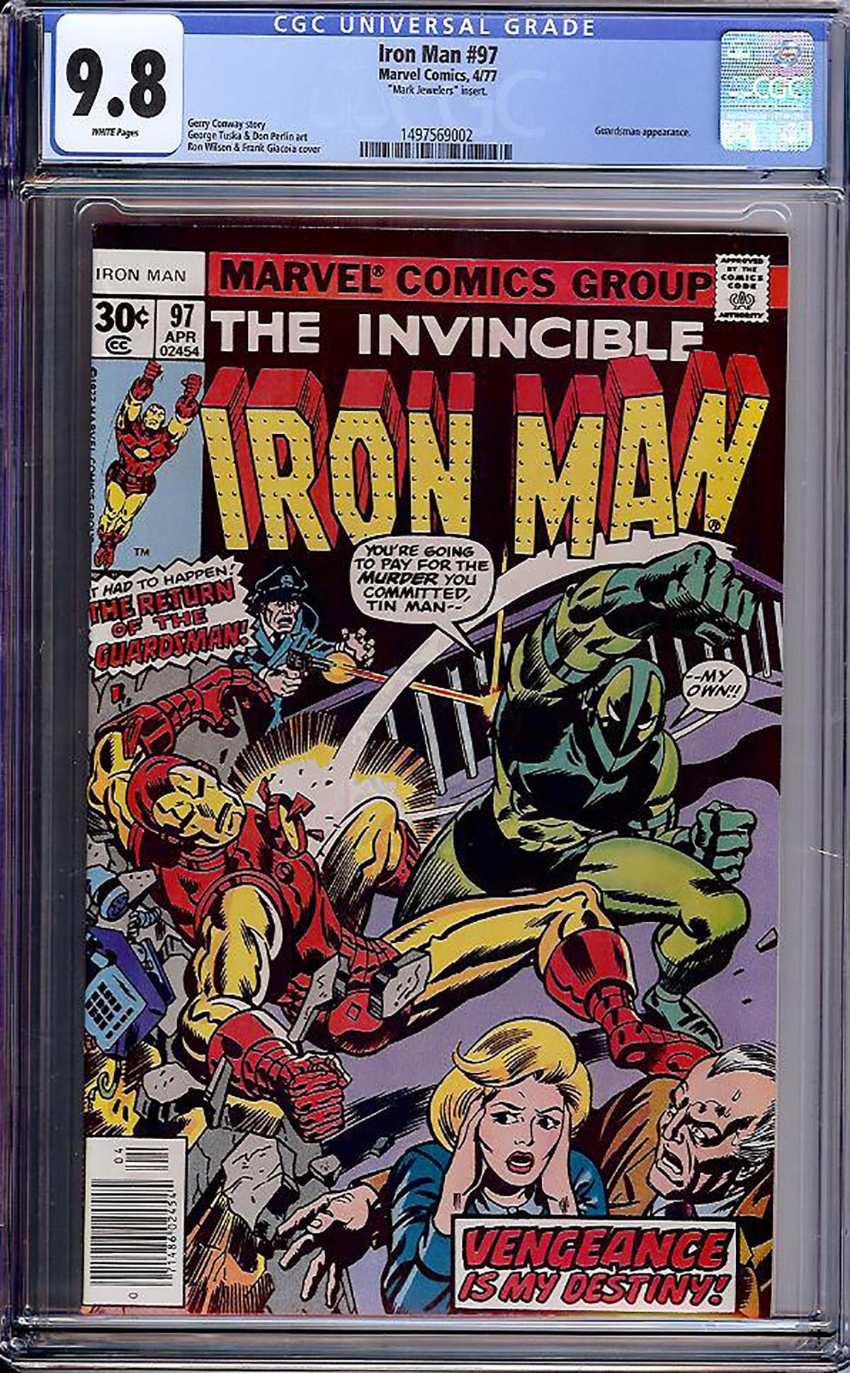Iron Man #97 CGC 9.8 w