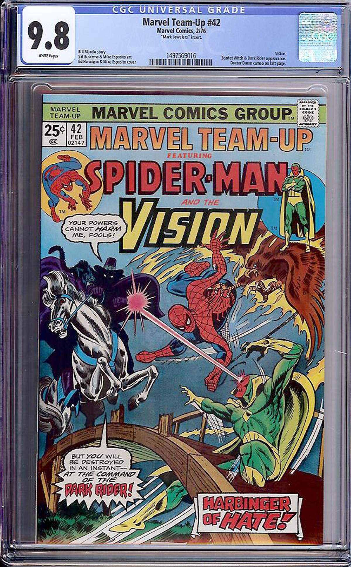 Marvel Team-Up #42 CGC 9.8 w