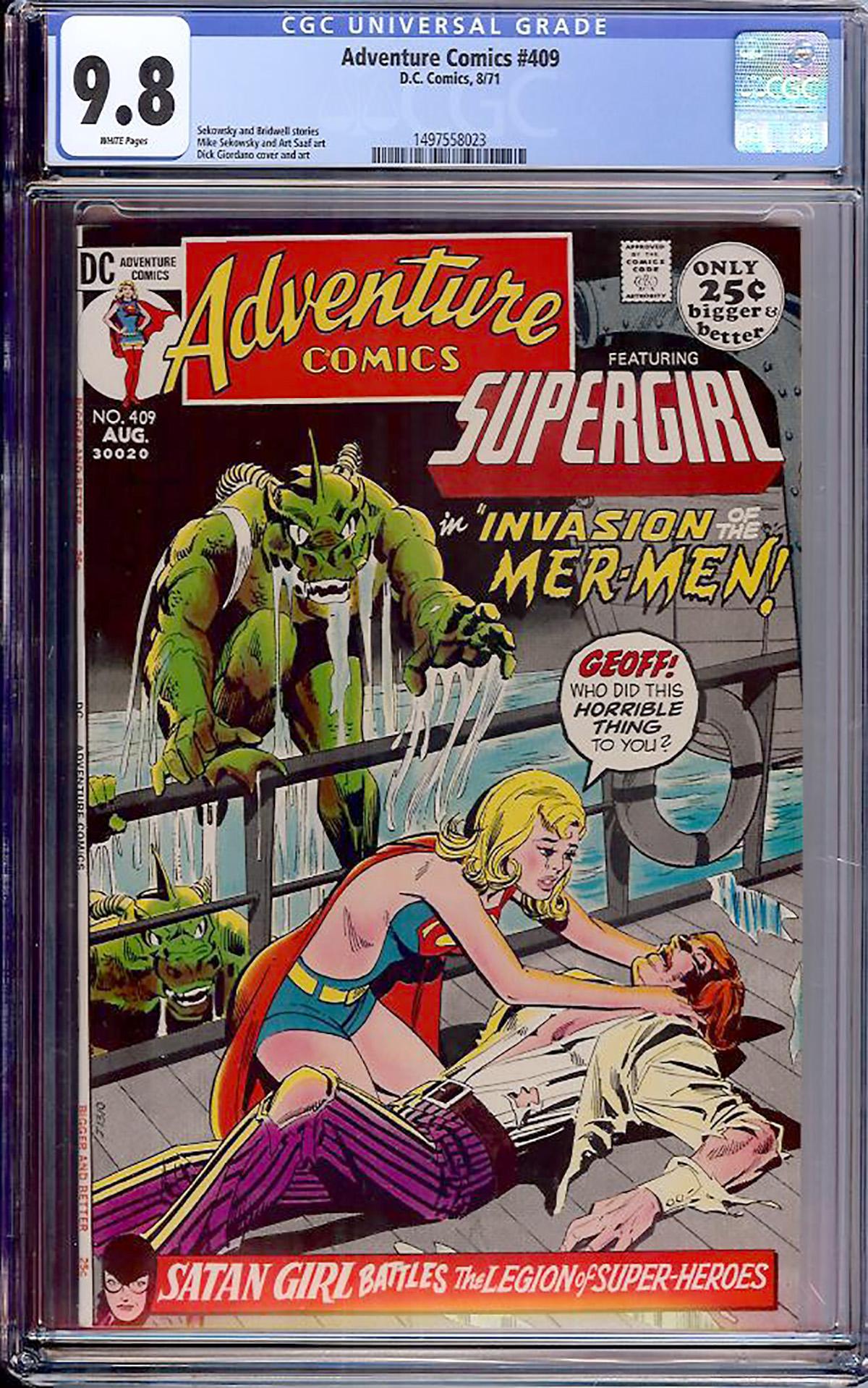 Adventure Comics #409 CGC 9.8 w