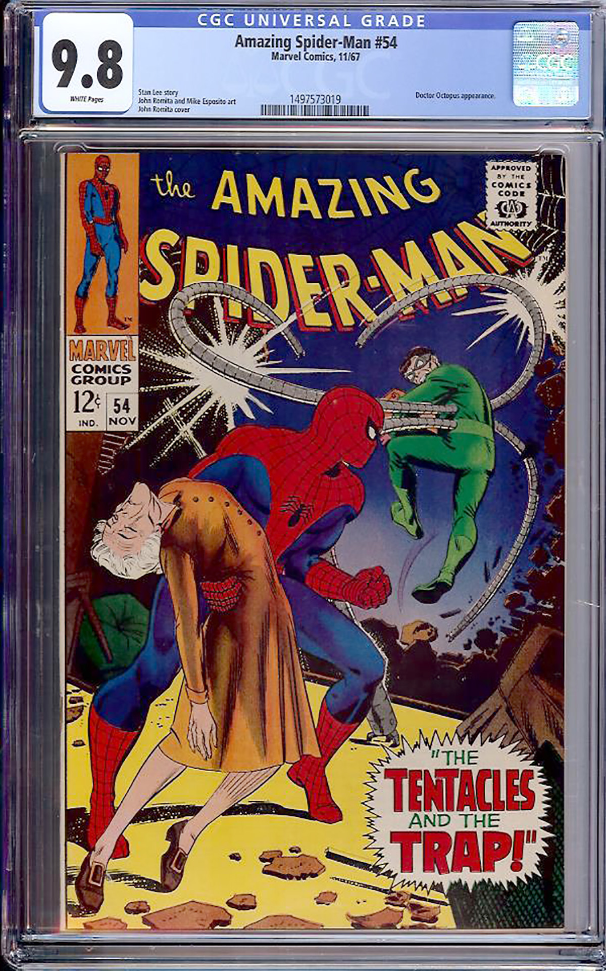 Amazing Spider-Man #54 CGC 9.8 w