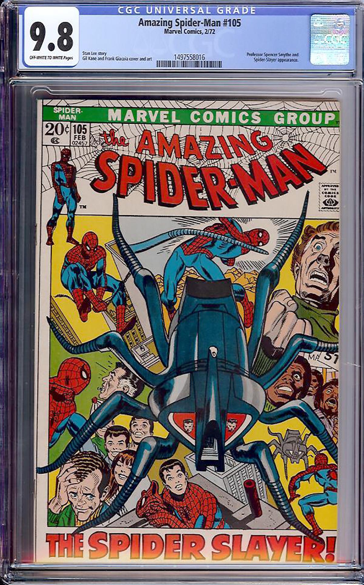 Amazing Spider-Man #105 CGC 9.8 ow/w