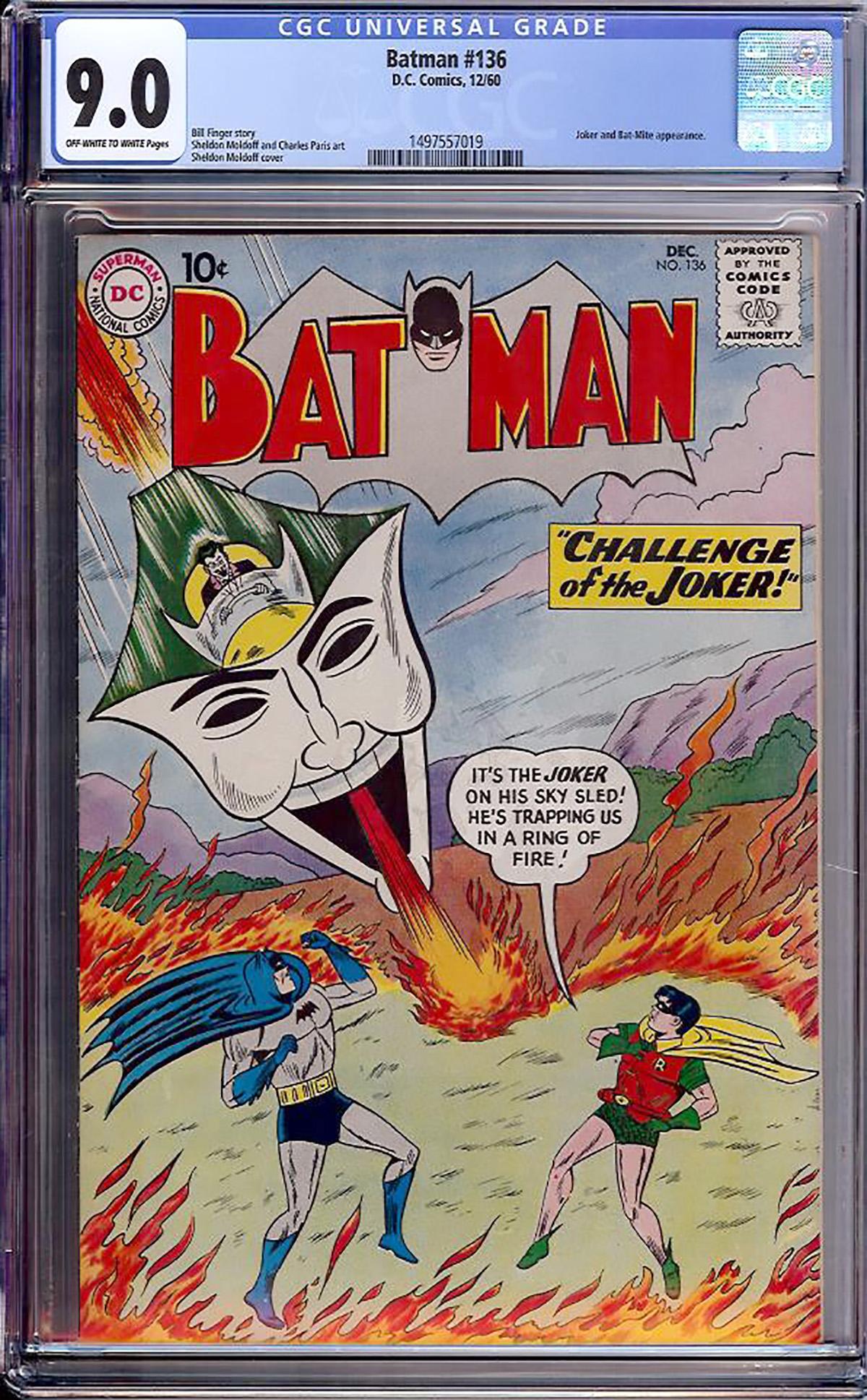 Batman #136 CGC 9.0 ow/w