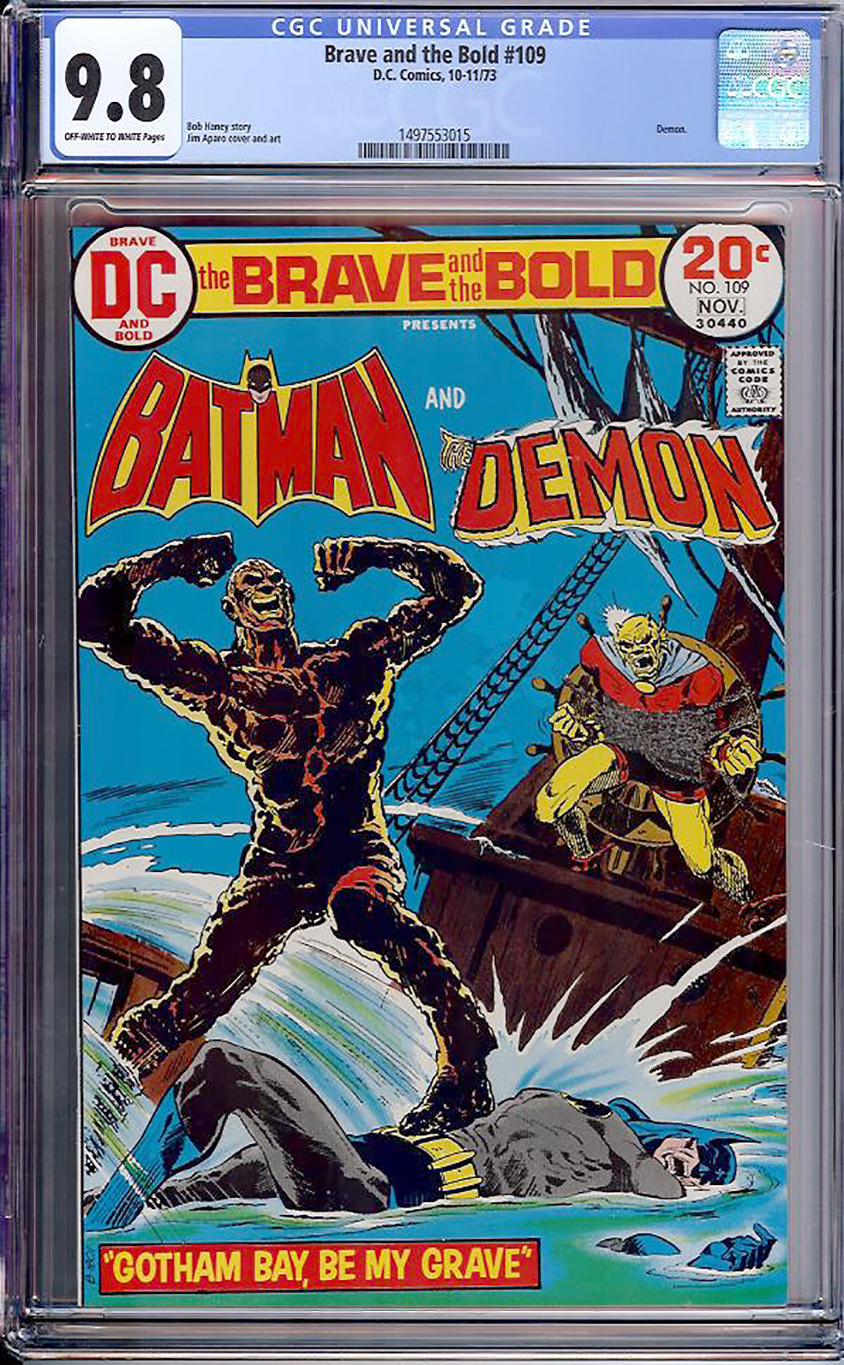 Brave and the Bold #109 CGC 9.8 ow/w