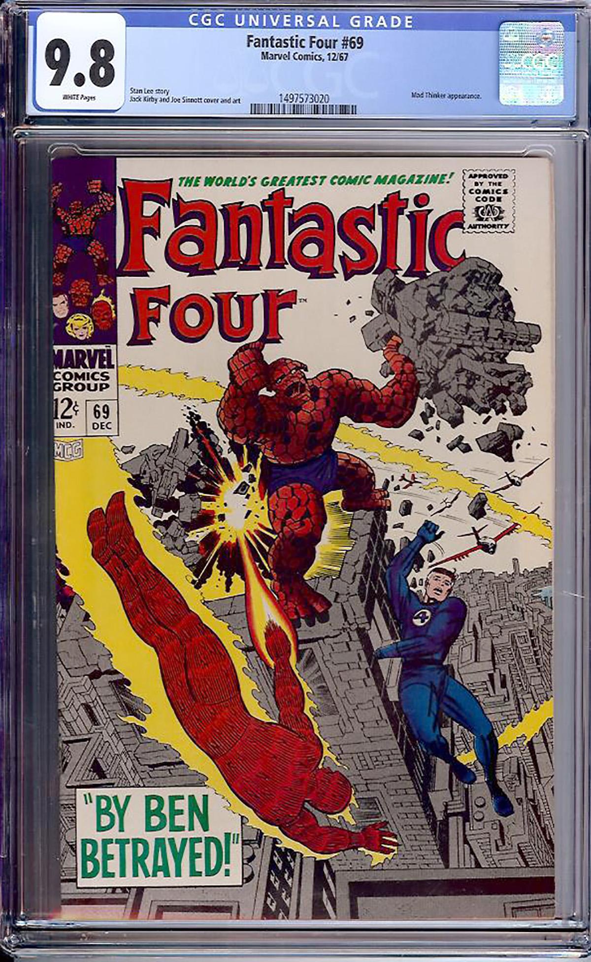 Fantastic Four #69 CGC 9.8 w