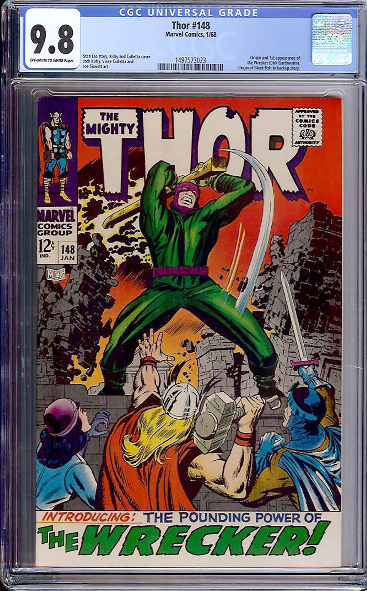 Thor #148 CGC 9.8 ow/w
