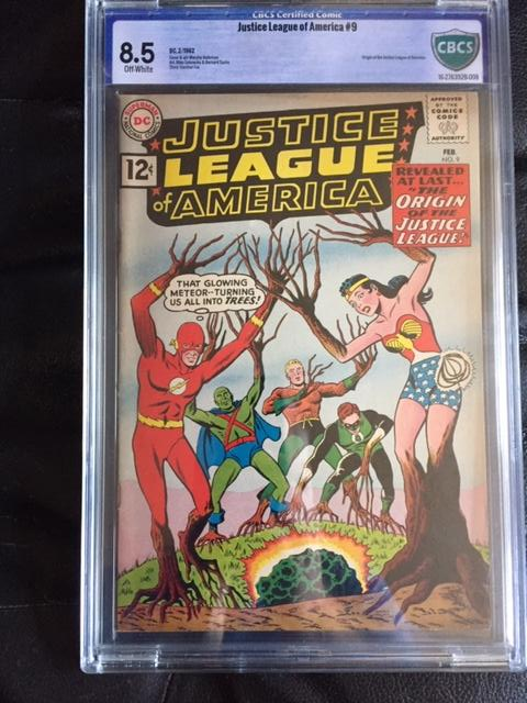 Justice League of America #9 CBCS 8.5 ow