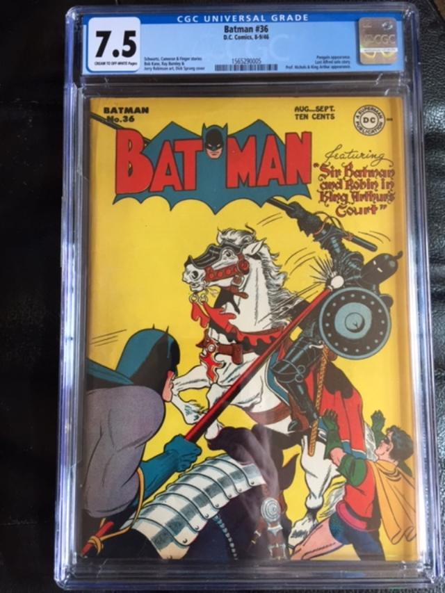Batman #36 CGC 7.5 cr/ow