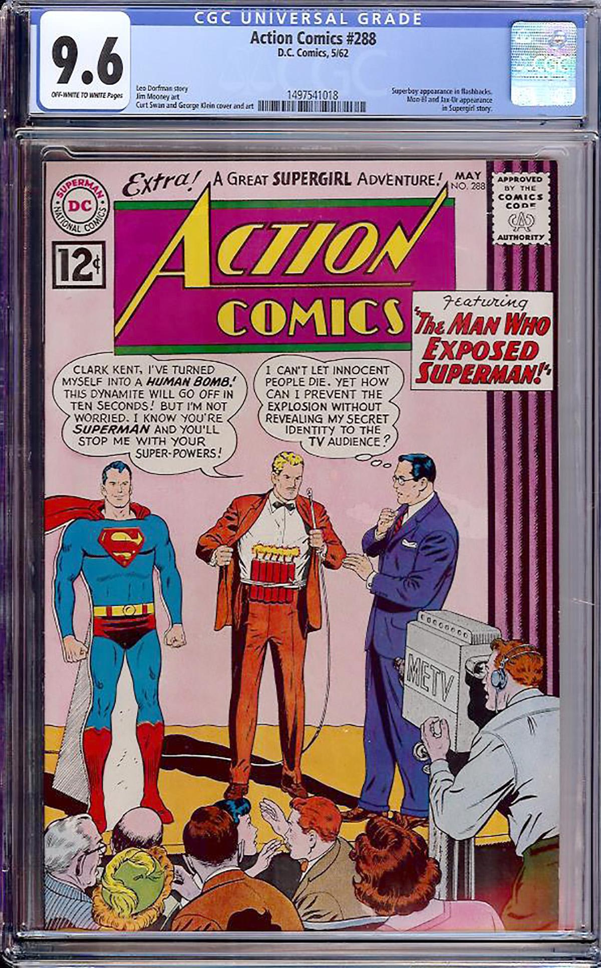 Action Comics #288 CGC 9.6 ow/w