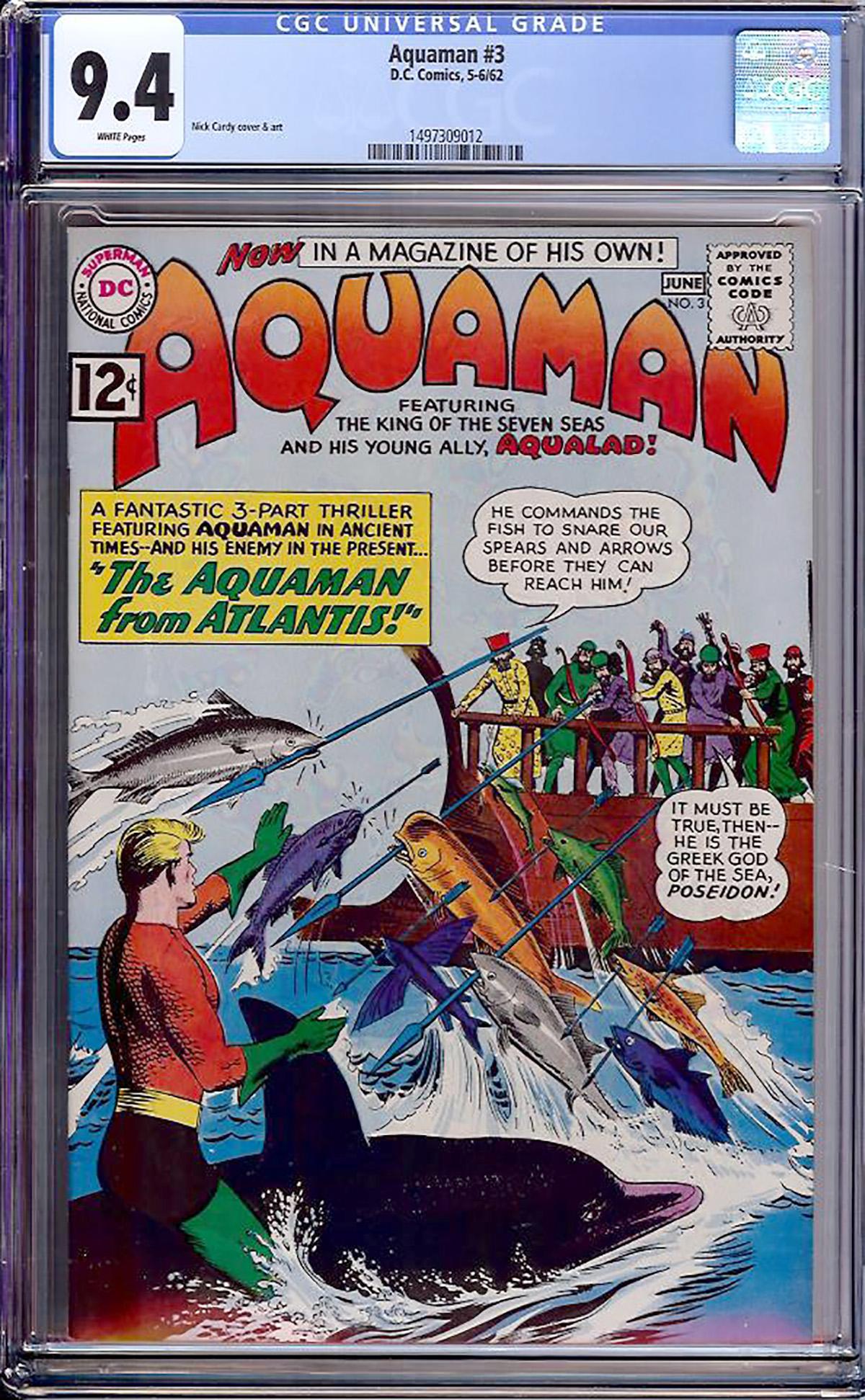 Aquaman #3 CGC 9.4 w