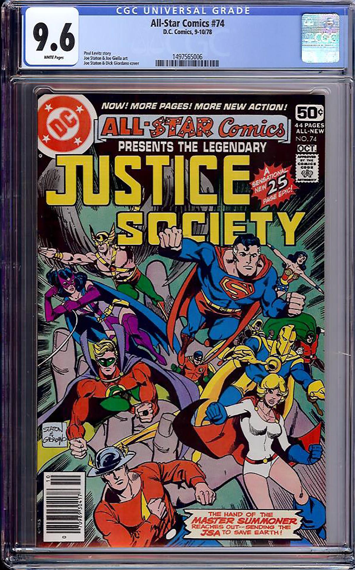 All-Star Comics #74 CGC 9.6 w