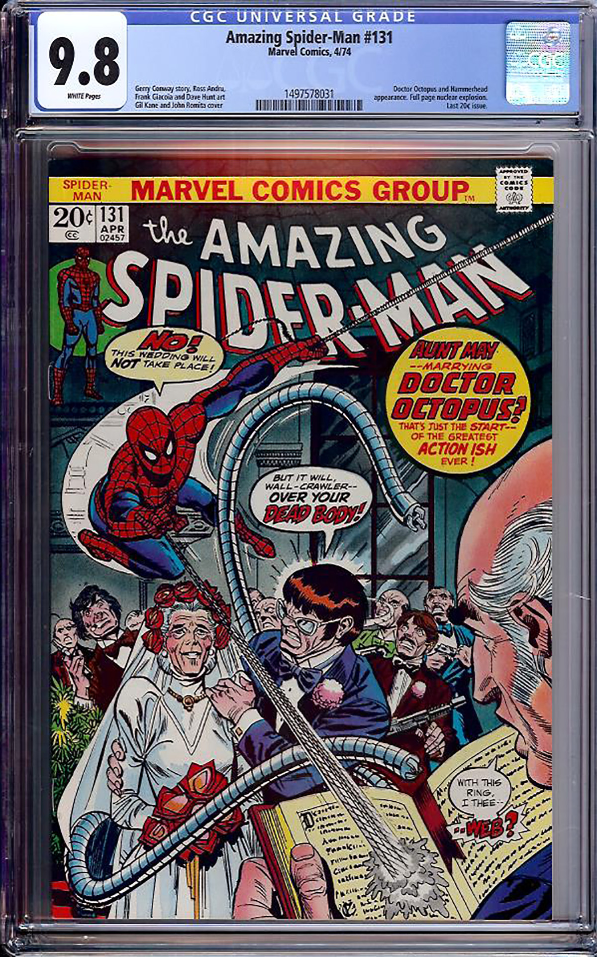 Amazing Spider-Man #131 CGC 9.8 w