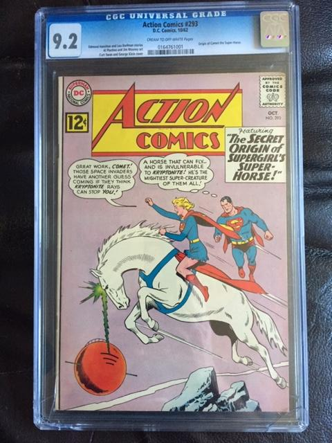 Action Comics #293 CGC 9.2 cr/ow