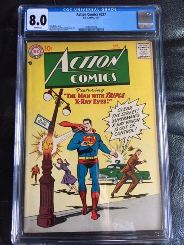 Action Comics #227 CGC 8.0 w