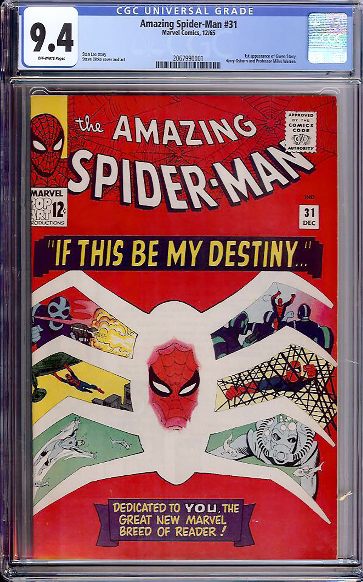 Amazing Spider-Man #31 CGC 9.4 ow