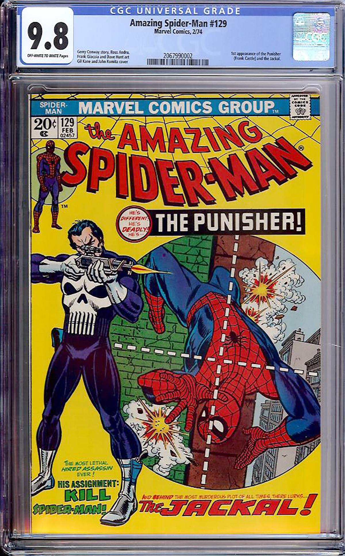 Amazing Spider-Man #129 CGC 9.8 ow/w