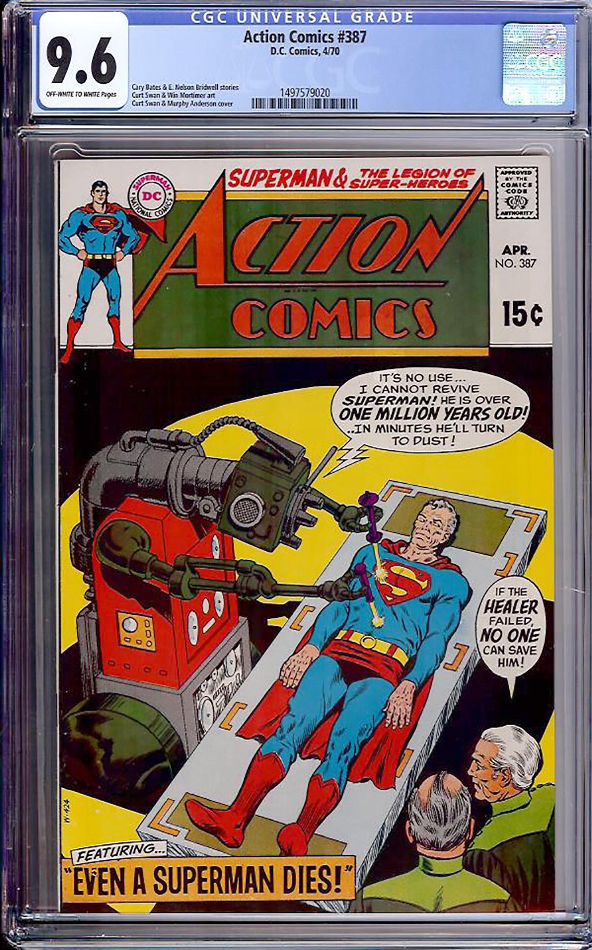 Action Comics #387 CGC 9.6 ow/w