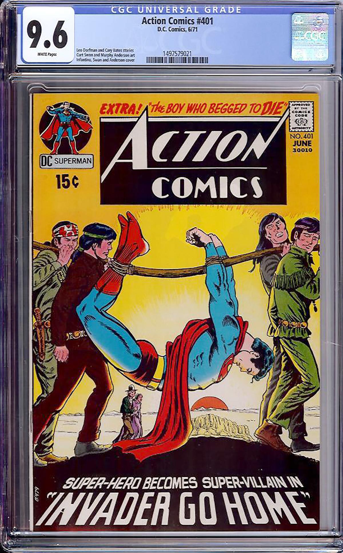 Action Comics #401 CGC 9.6 w