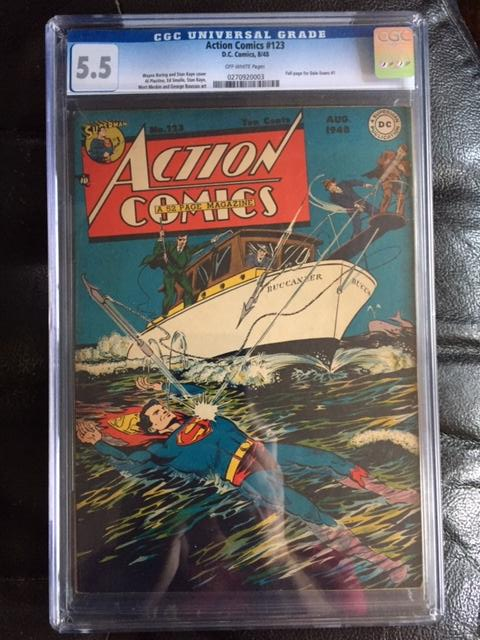 Action Comics #123 CGC 5.5 ow