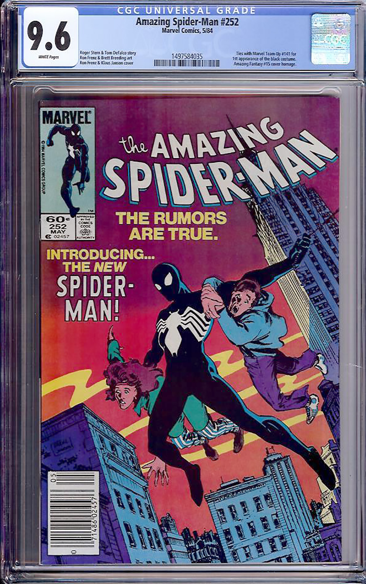 Amazing Spider-Man #252 CGC 9.6 w