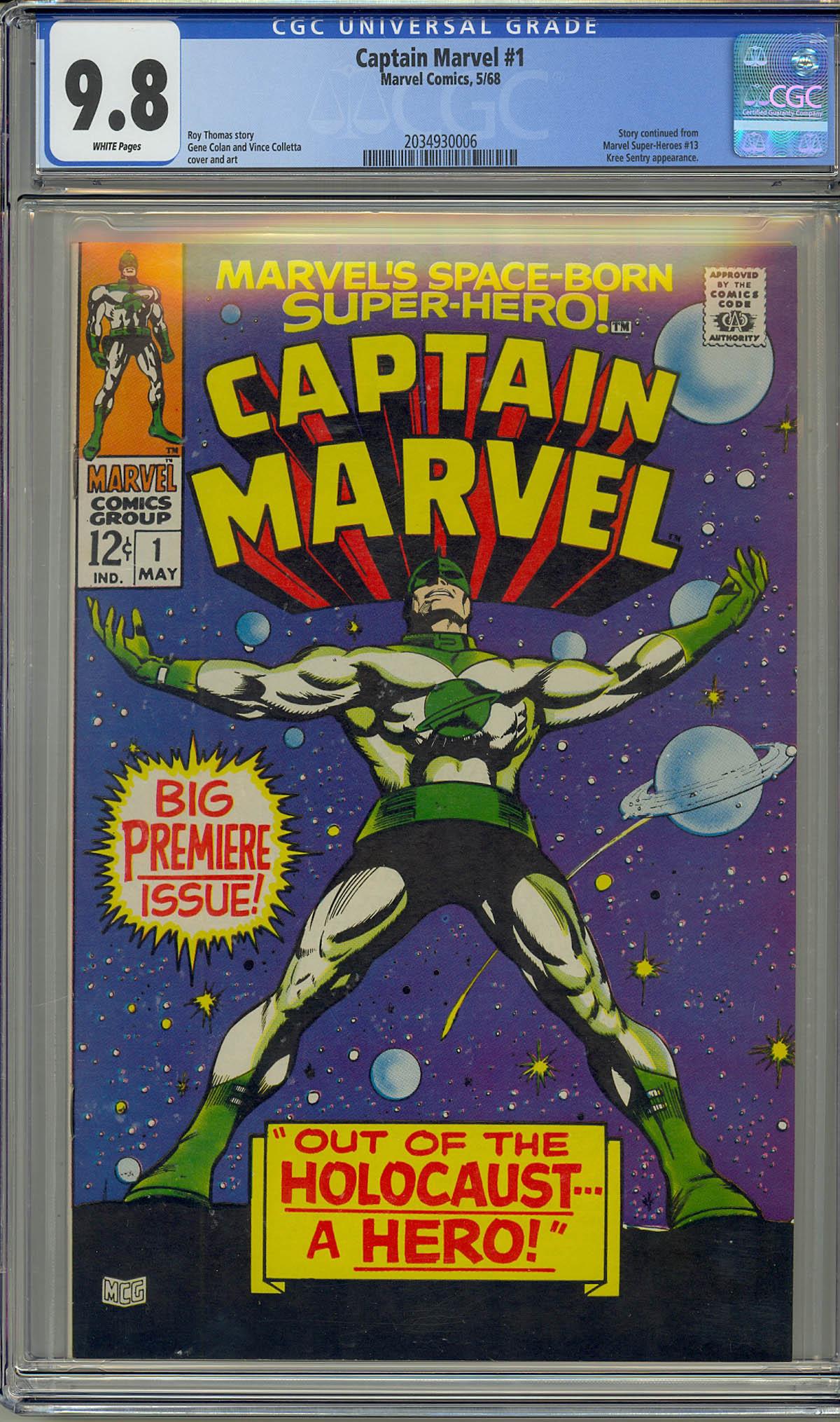 Captain Marvel #1 CGC 9.8 w