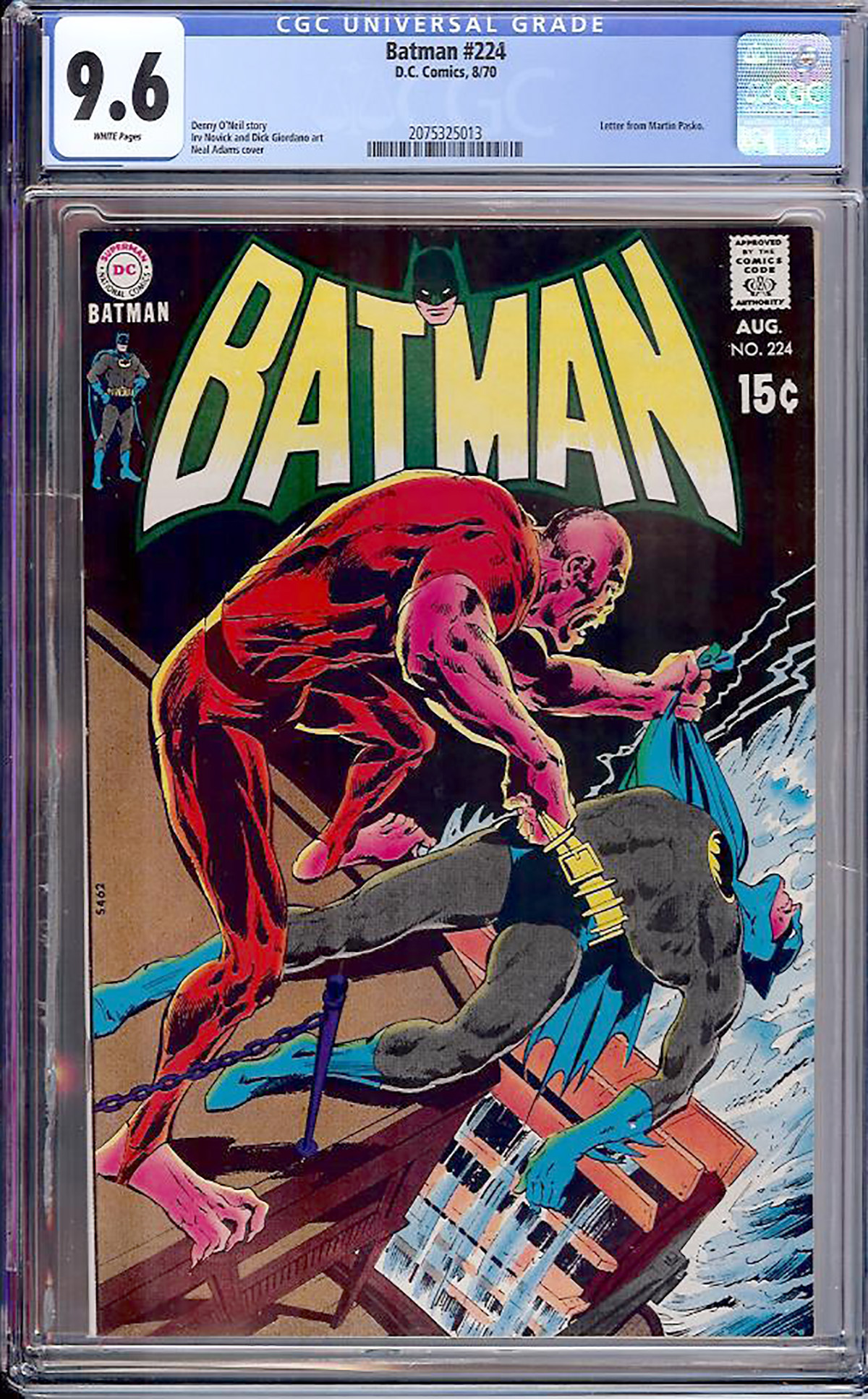 Batman #224 CGC 9.6 w Davie Collection