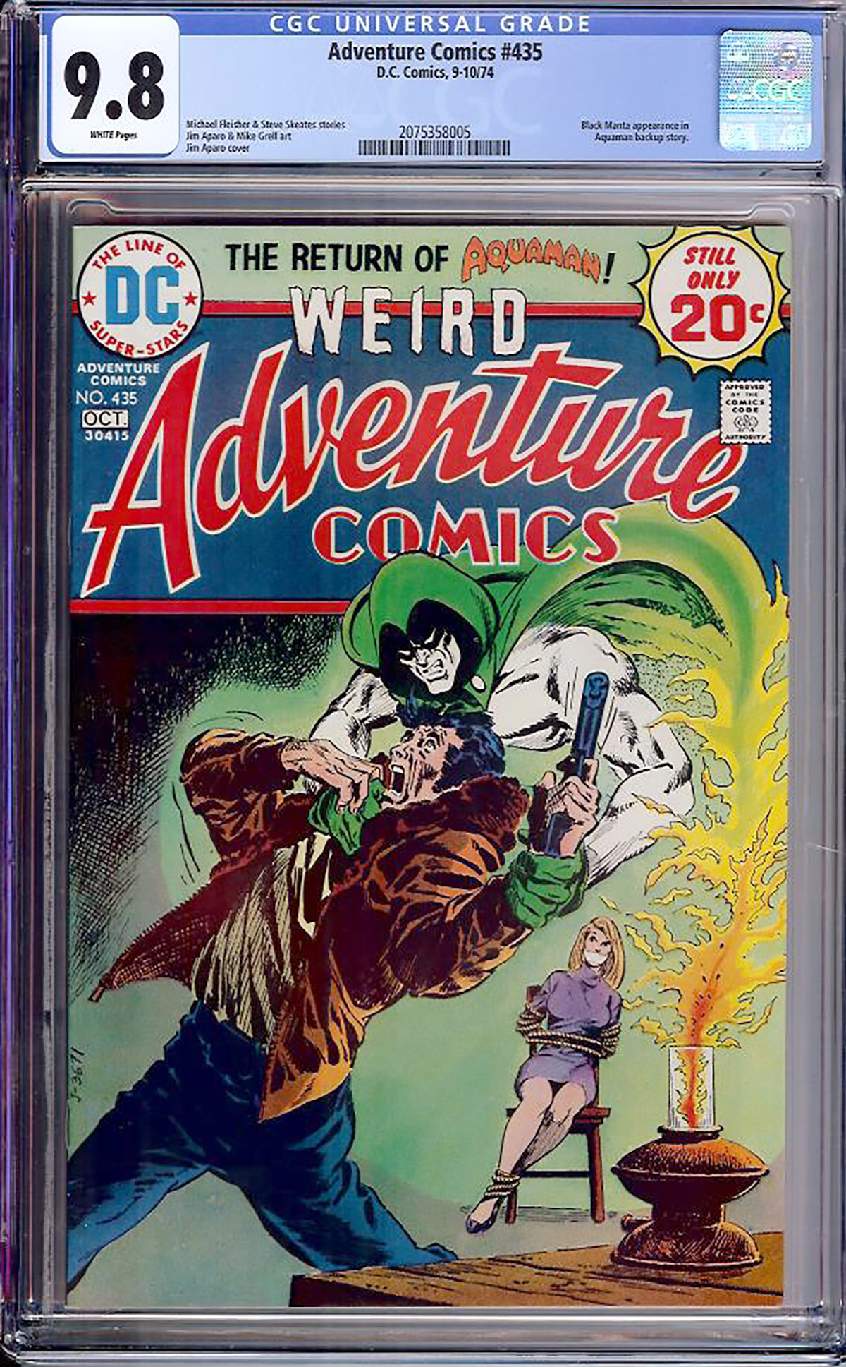 Adventure Comics #435 CGC 9.8 w Davie Collection
