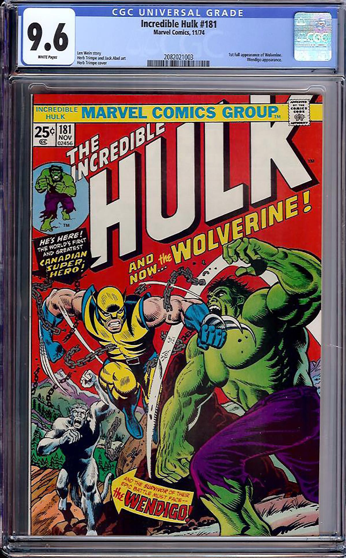 Incredible Hulk #181 CGC 9.6 w