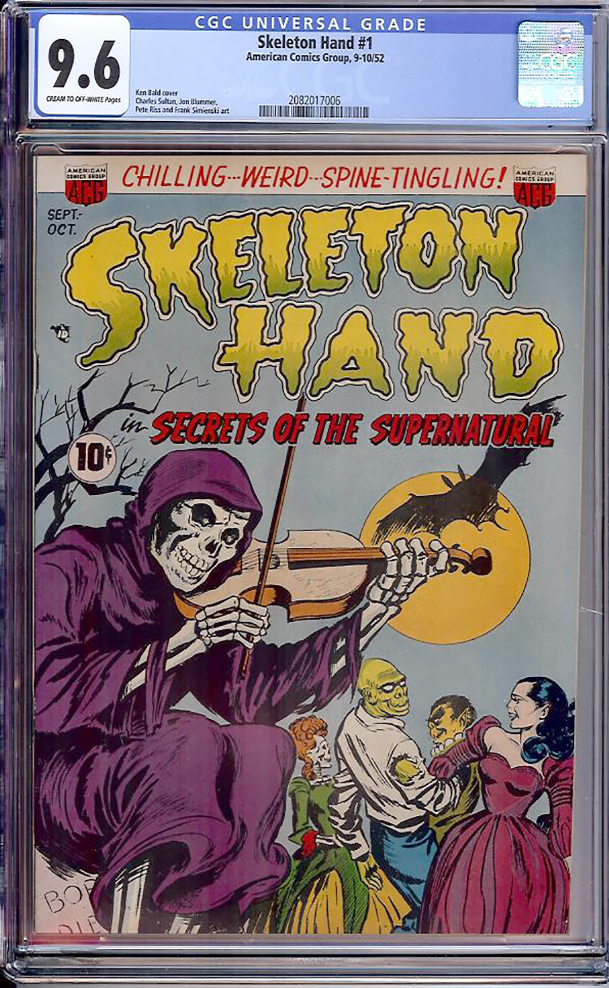Skeleton Hand #1 CGC 9.6 cr/ow