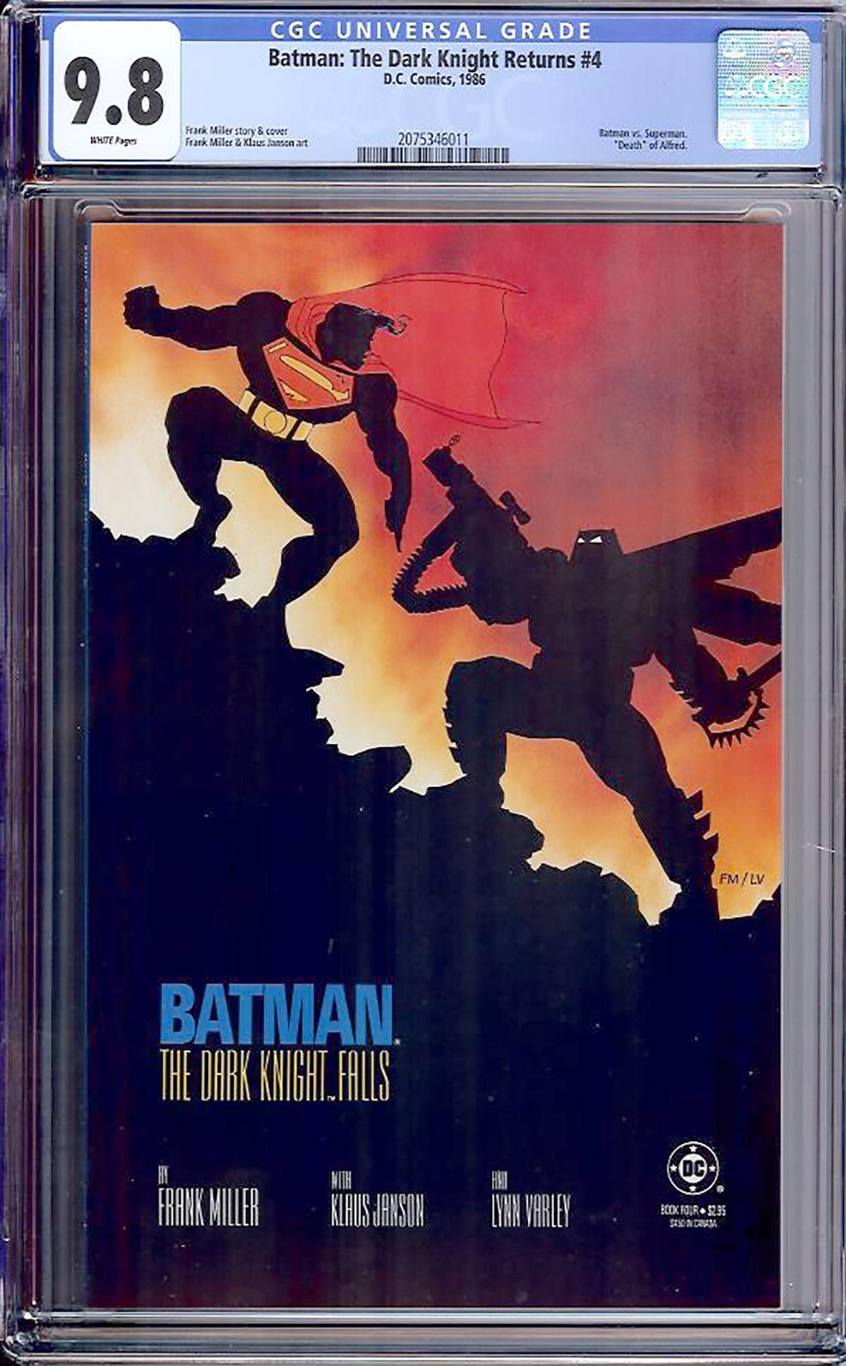 Batman: The Dark Knight Returns #4 CGC 9.8 w Davie Collection