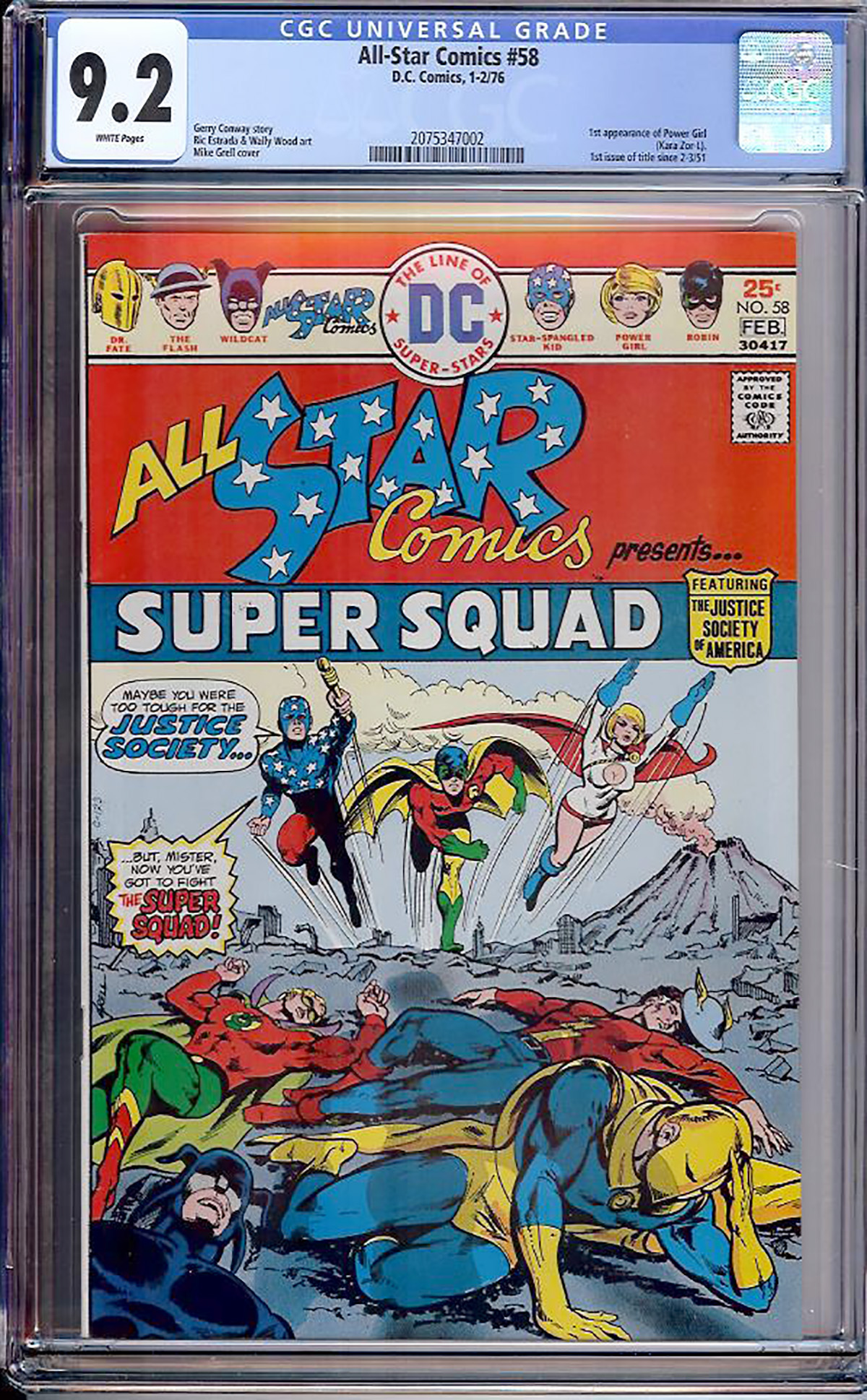 All-Star Comics #58 CGC 9.2 w Davie Collection