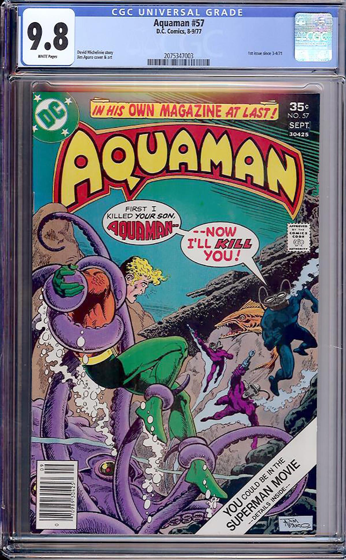 Aquaman #57 CGC 9.8 w Davie Collection