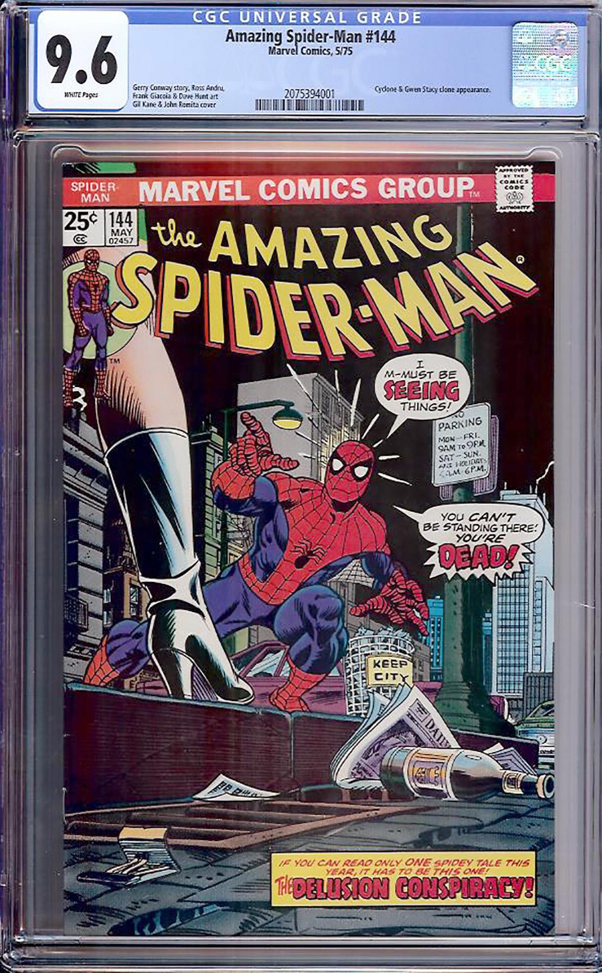 Amazing Spider-Man #144 CGC 9.6 w Davie Collection