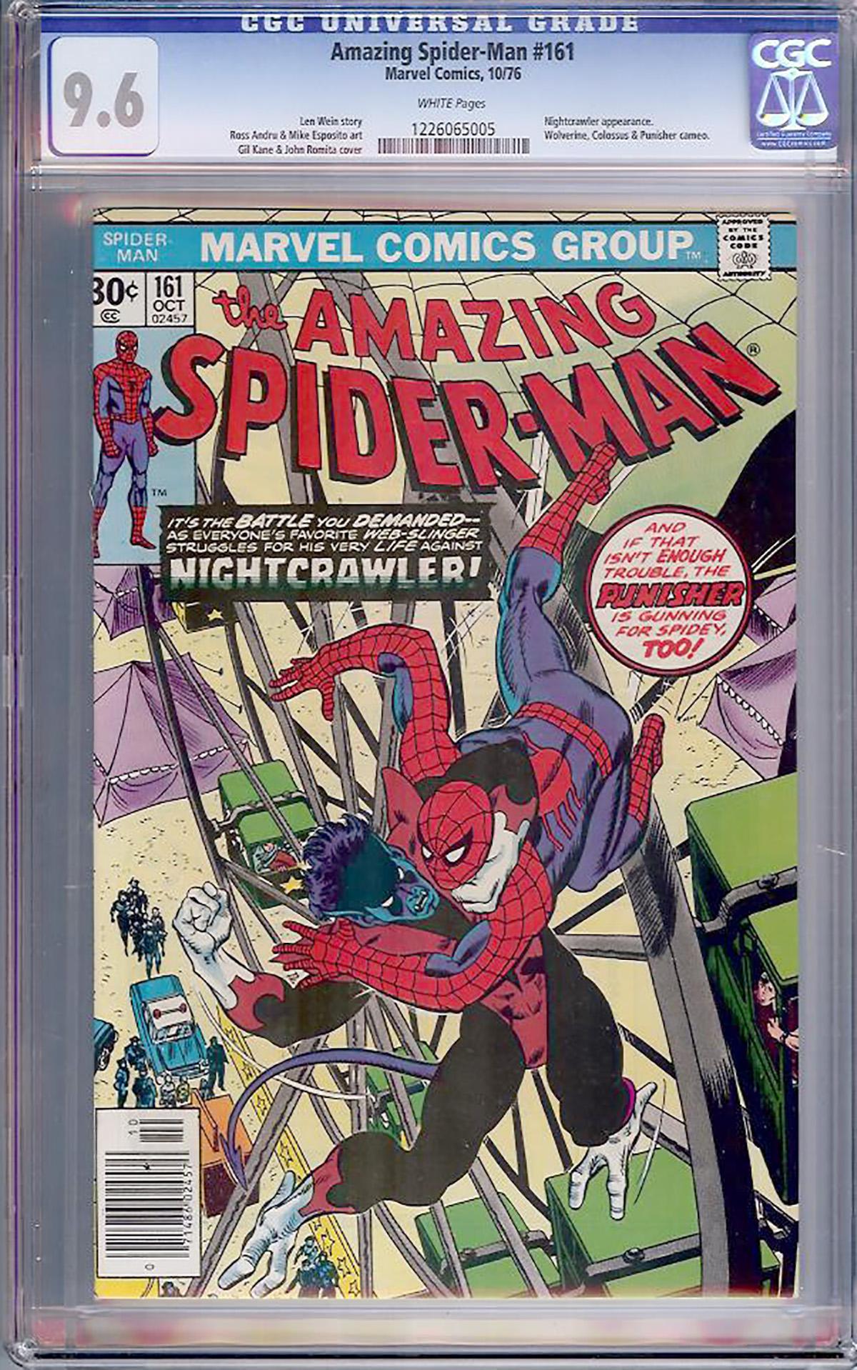 Amazing Spider-Man #161 CGC 9.6 w