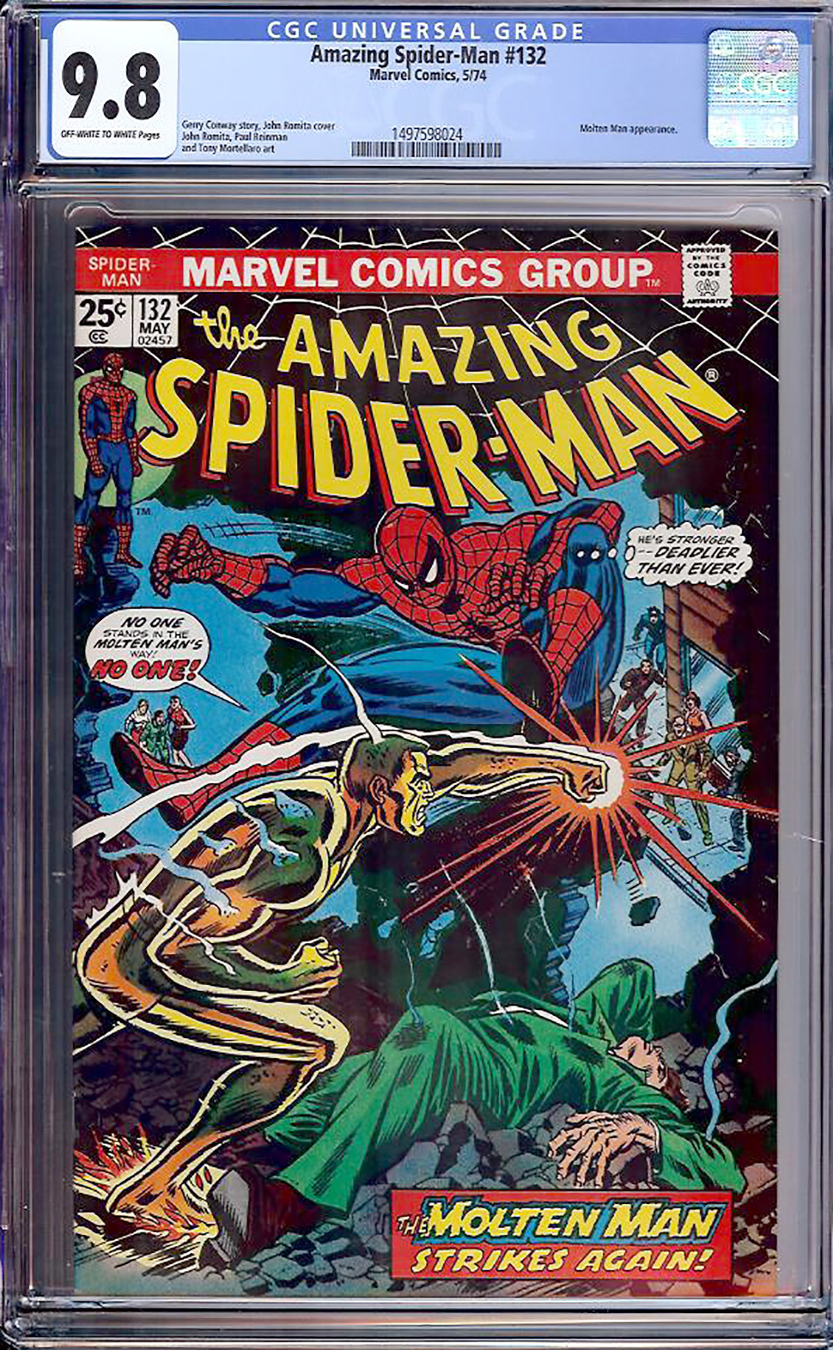 Amazing Spider-Man #132 CGC 9.8 ow/w