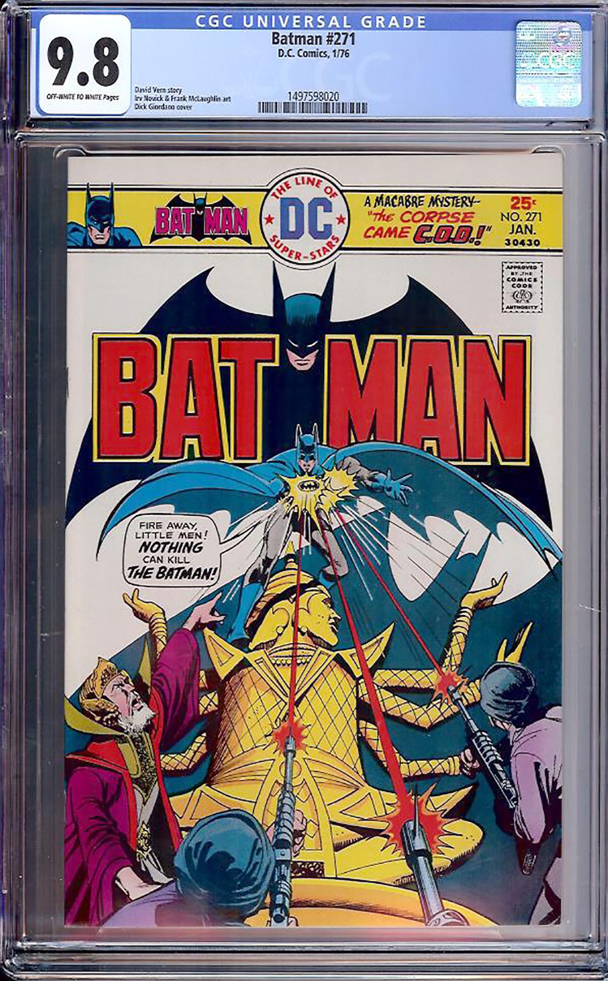 Batman #271 CGC 9.8 ow/w