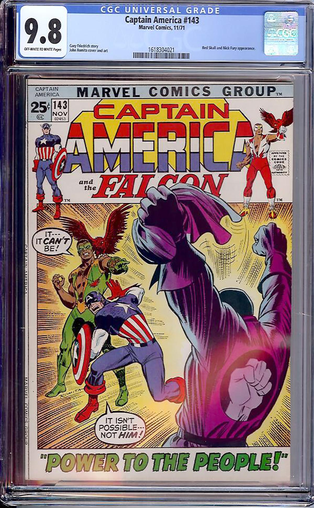 Captain America #143 CGC 9.8 ow/w