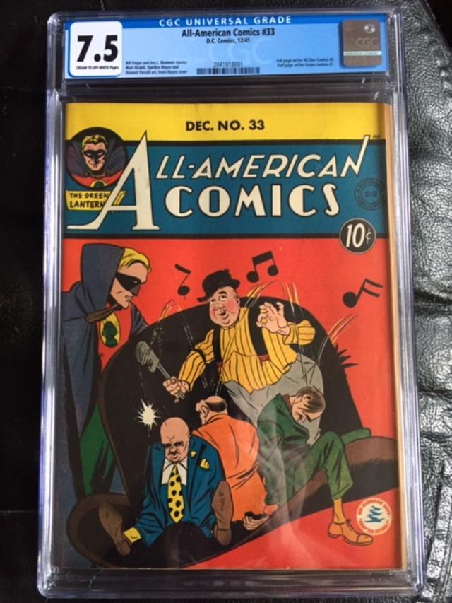 All-American Comics #33 CGC 7.5 cr/ow