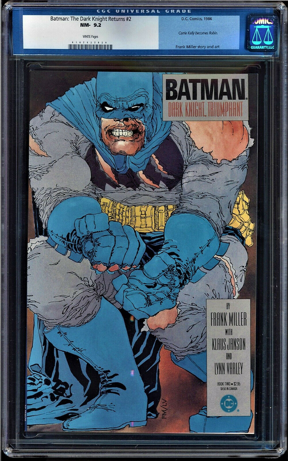 Batman: The Dark Knight Returns #2 CGC 9.2 w
